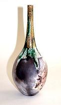 Unique Raku Bottle