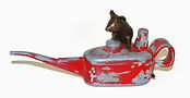 Sculpture.  Mouse on Oil can