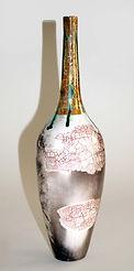 Original Art.   Raku fired porcelain Vessel