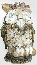Handmade ceramic owl