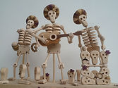 Day of the Dead. Dancing/playing Automata
