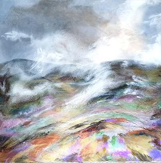 Orignal Art. Mist Over Fells