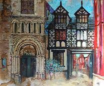 Original oil painting. Shrewsbury