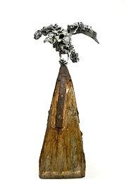 Olivia Ferrier. Flowerbird. Bronze on wo