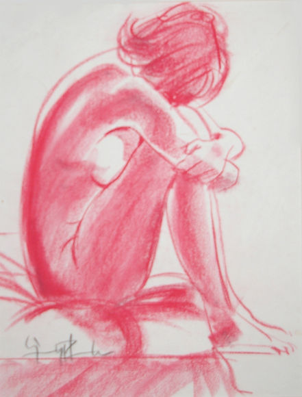 Origional Art. Life drawing in pastel