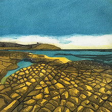 The Limestone Pavement. Collagraph