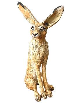 Original Sitting Hare.  Ceramic.  28cm