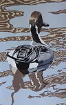 Art.  Linoprint. Pintail Patterns