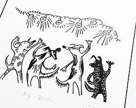 Original Lino print