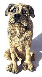 Original handmade ceramic dog