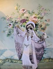 Original art. Priestess. Collage on vintage print.