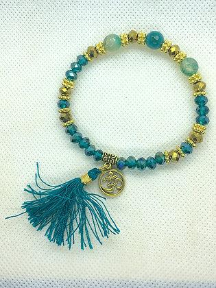 Tassel Bracelet Teal