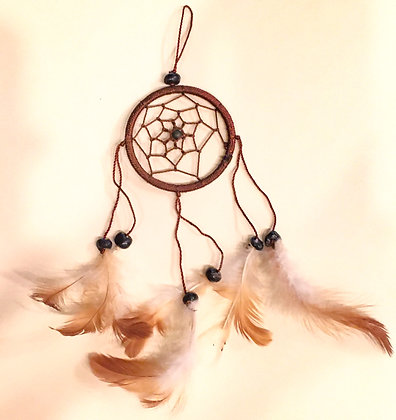 Small brown silk dreamcatcher