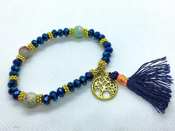 Tassel Bracelet Blue