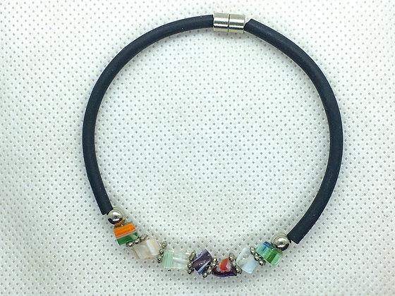 Magnetic glass bead bracelet