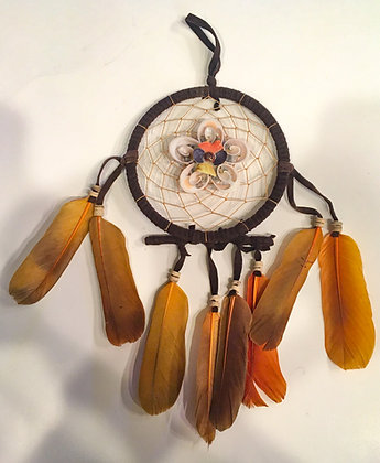 Flower shell dreamcatcher brown