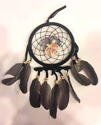 Flower shell dreamcatcher black