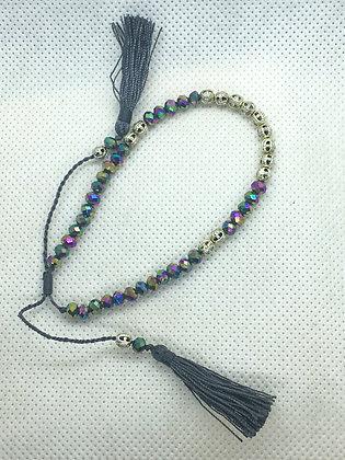 Purple grey Tassel bracelet