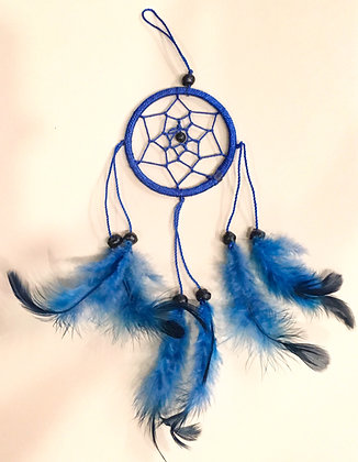 Small blue silk dreamcatcher
