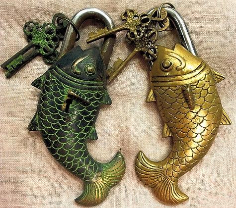 Tibetan Fish Locks/Beautifully Made