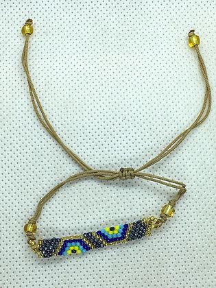 Silver Beaded String Bracelet