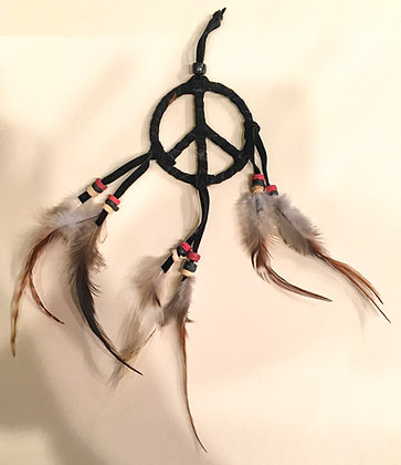 Black peace sign wall hanging