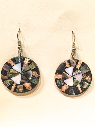 Circle Shell Earrings
