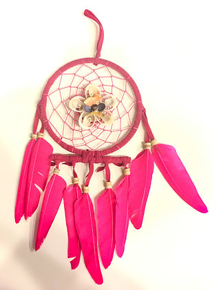 Flower shell dreamcatcher pink