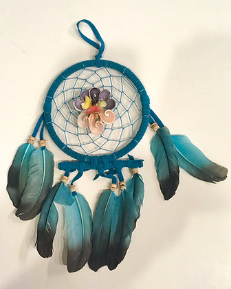 Flower shell dreamcatcher turquoise