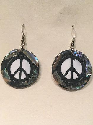 Peace Sign Shell Earrings