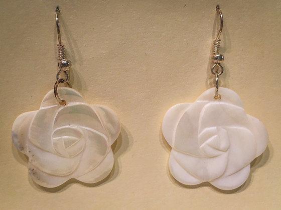 Rose Shell Earrings