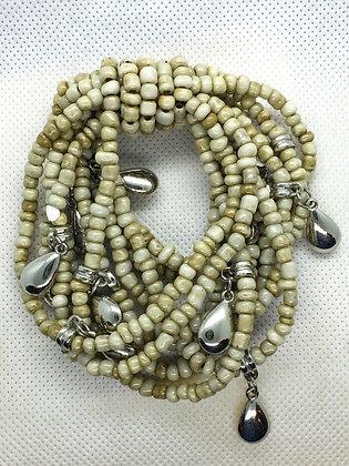 Bone white Teardrop bracelet