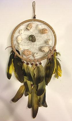 Yellow feather dreamcatcher