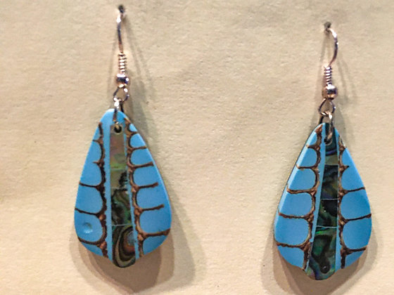Shell Blue earrings