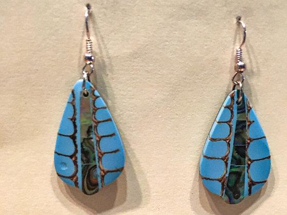 Shell Blue earrings