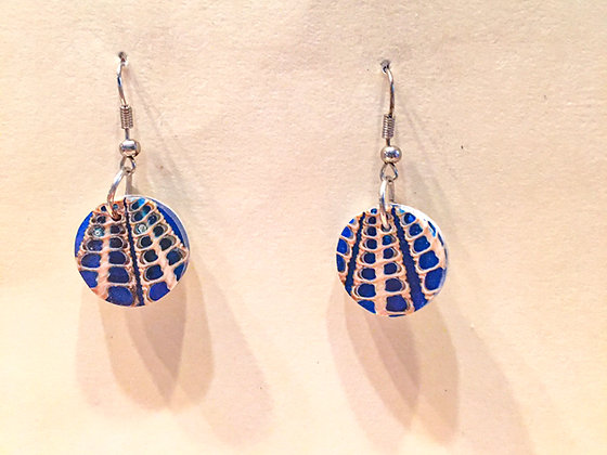 Blue Small Round Earring