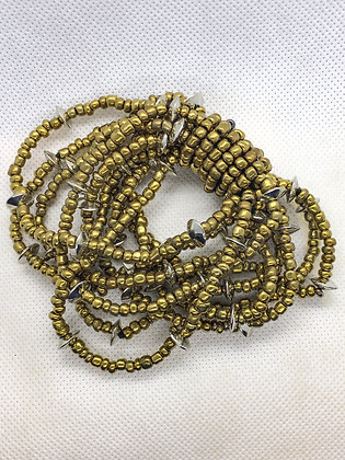 Gold Beaded Braclete