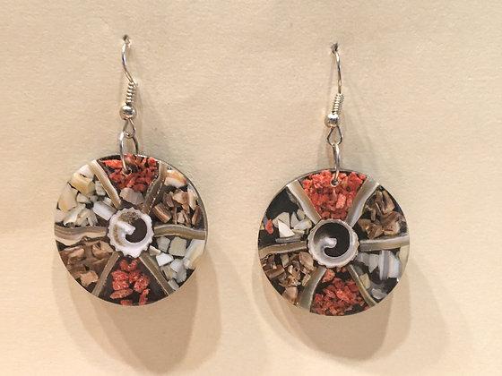 Shell chips earring