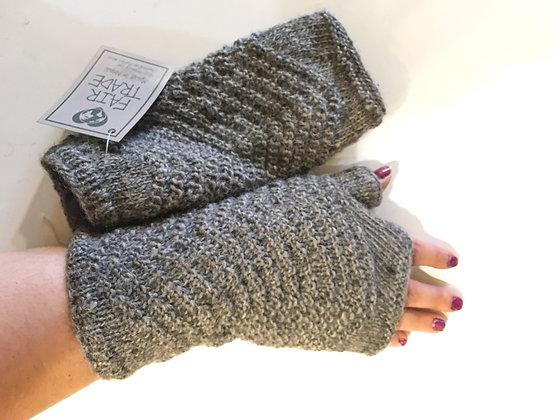 V Knit Fingerless Gloves