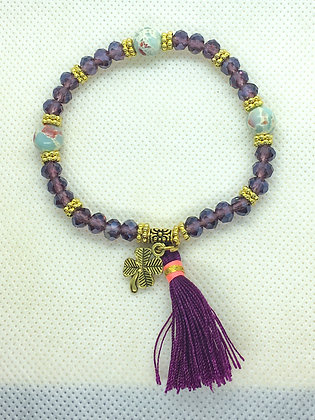 Tassel Bracelet Purple