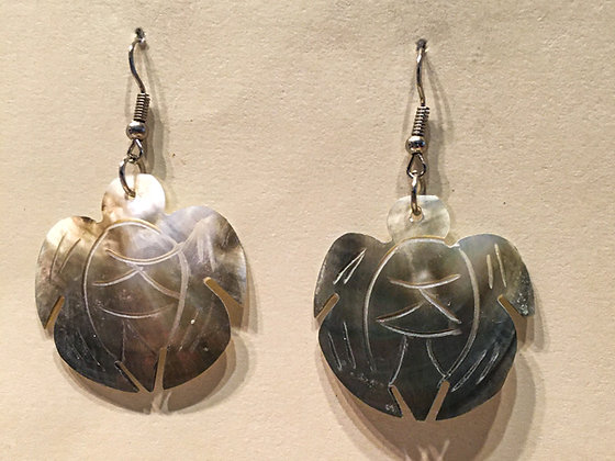 Turtle shaped Shell Earrings