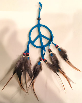 Blue peace sign wall hanger