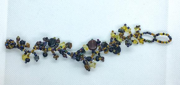 Black and brown beaded bracelet