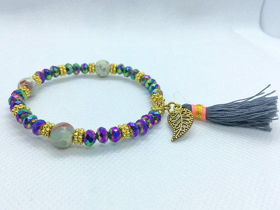 Tassel Bracelet Iridescent purple