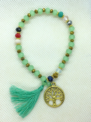 Tassel Bracelet With Charm Jade