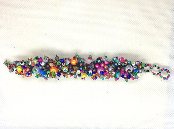 Beaded rainbow Guatemalan bracelet