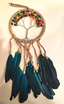Blue feather multicored tree of life