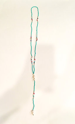 Teal freshwater pearl necklace