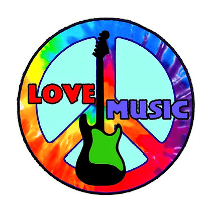 Love Music Embroidered Patch