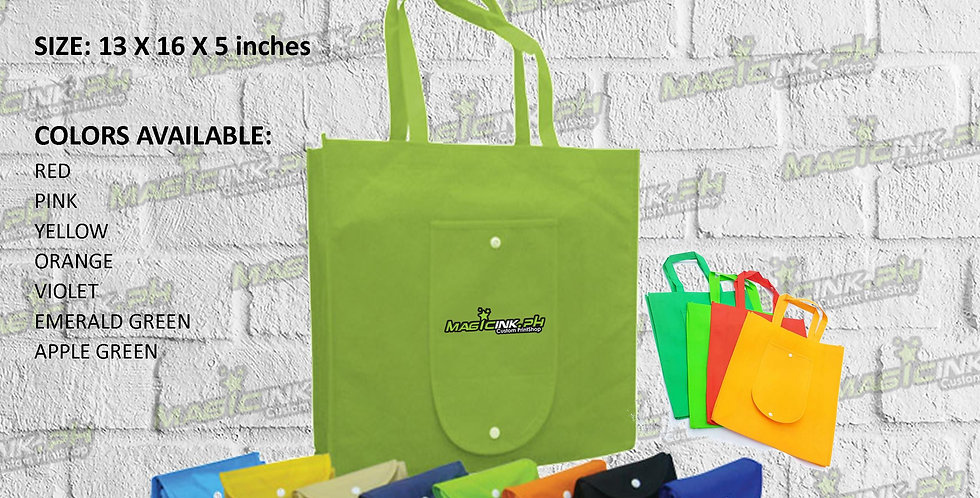 FOLDABLE ECO BAG WITH BUTTON
